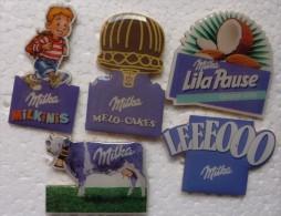201411-CHOCOLAT MILKA 5 PINS - Pin's