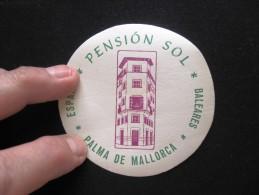 HOTEL PENSION RESIDENCIA HOSTAL SOL MAR PALMA DE MALLORCA SPAIN LUGGAGE LABEL ETIQUETTE AUFKLEBER DECAL STICKER Madrid - Hotel Labels