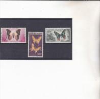 MADAGASCAR : papillons   : Y&T  :o et * : 80-81-82 PA