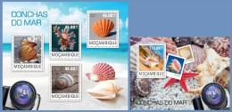 m14404ab Mozambique 2014 Seashells Shell 2 s/s