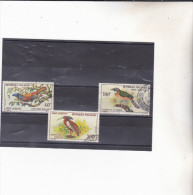 MADAGASCAR : oiseaux   : Y&T  o : 89 � 91 PA