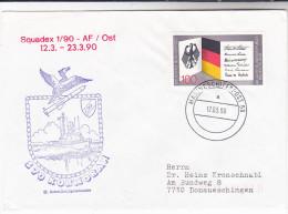 1990 GERMANY EVENT COVER  Navy SHIP KORMORAN  Illus CORMORANT BIRD Stamps Birds Navy - Ships