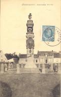 GROBBENDONK 1929   GROBBENDONCK  GEDENKTEEKEN 1914-1918   MOOIE KAART MET HEEL WAT HUIZEN