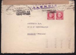Espagne - Enveloppe Censure 1938 - Marcas De Censura Nacional