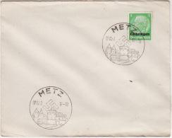 METZ -  04/11/1940  -  Cachet Croix Gammée  ( 5 Pf Vert ) - Marcophilie (Lettres)