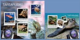 m14412ab Mozambique 2014 Turtles 2 s/s