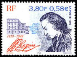 France N° 3287 ** Personnage - Compositeur - Frédéric Chopin - - Nuovi
