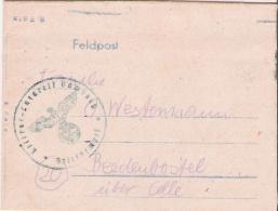 """Feldpost Brief mit Inhalt   Absender """" Lazarett"""" - Beedenbostel"""