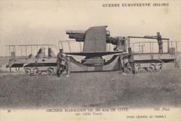 71 GUERRE EUROPEENNE 1914  OBUSIER SCHNEIDER DE 20MM DE COTE - Matériel