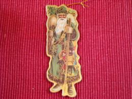 Décoration Noël Vintage , Chromo Double Face Sur Carton Trés épais , Qualité Luxe - Kerstversiering