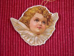 Décoration Noël Vintage , Chromo Double Face Sur Carton Trés épais , Qualité Luxe - Décoration De Noël