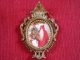 Décoration Noël Vintage , Chromo Sur Matière Plastique - Decorative Items