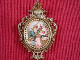 Décoration Noël Vintage , Chromo Sur Matière Plastique - Kerstversiering