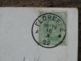 Oblitération Floreffe Du 18/101922 Sur Timbre COB 137 - Marcofilia