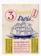 Buvard Table Des 3  Voilier Trois Mats Publicité NITROL Au Dos - Blotters