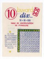 Buvard Table Des 10  Table De Multiplication  Publicité Sirop BATTUT Au Dos - Blotters