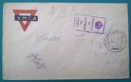 Enveloppe YMCA Oblit ARMY POST OFFICE S.59 SAINT VALERY TROUPES ANGLAISES EN FRANCE Franchise Militaire - Marcophilie (Lettres)