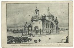 """Cartolina Postale, Lorette - """" Monument Du Souvenir à La Memories Des Hèros D´Artois Et Des Flandres"""" - Saint Etienne"""