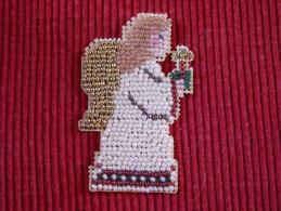 Décoration Noël Vintage , Broderie Perles Verre - Décoration De Noël