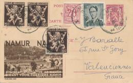 997/22 -  Entier Postal Publibel Lion Petit Sceau - TB Affranchi , Dont Lunettes Et Lion V BRUXELLES 1955 Vers La France - Publibels