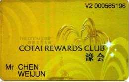 Macau : The Cotai Strip : Cotai Rewards Club : Venetian & Sands Casino