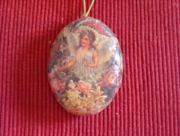 Décoration Noël Vintage , Papier Maché - Décoration De Noël