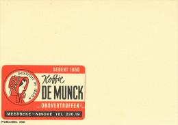 998/22 -  Entier Postal Publibel 2186 Neuf - Koffie De Munck MEERBEKE NINOVE - SPECIMEN Sans Impression Du Timbre - Stamped Stationery