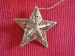 Décoration Noël Vintage , Metal Ajouré - Décoration De Noël