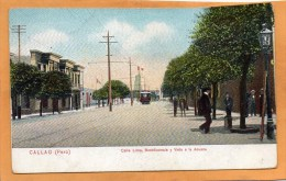 Callao Peru Tram 1905 Postcard