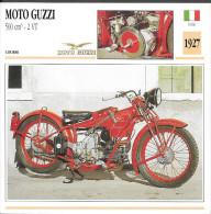 1927 - FICHE TECHNIQUE MOTO - DÉTAIL COMPLET À L´ENDOS - MOTO GUZZI 500 Cm3 2 VT - COURSE - ITALIE - Motos