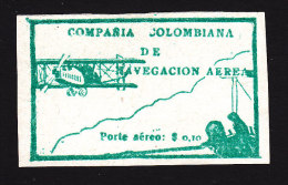 Colombia, Scott #C11, Mint No Gum, Flier In Plane Watching Biplane,  Issued 1920 - Colombia