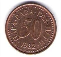 Jugoslawien 50 Para Bro 1982 Schön Nr.82 / KM 85 - Jugoslawien