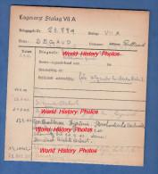 Fiche Ancienne - STALAG VII A - Prisonnier Rolland SEGAUD D' EUVILLE ( Meuse ) - Sergent 2e R.P. - WW2 Pow - 1939-45