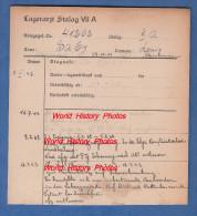 Fiche Ancienne - STALAG VII A - Prisonnier Louis SABY D' Ardes Sur Couze ( Puy De Dome ) - 298e Régiment - WW2 Pow - 1939-45