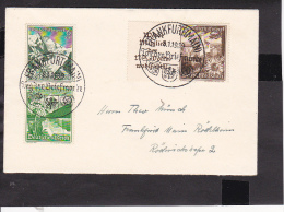 Briefmarken Aus Markenheftchen Mit Sonderstempel Frankfurt Tag Der Briefmarke 1939 - Briefe U. Dokumente