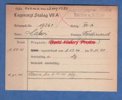 Fiche Ancienne - STALAG VII A - Prisonnier Ferdinand SALVI De Strozza ( Bergamo ) - 14e Régiment De Zouave - WW2 Pow - 1939-45