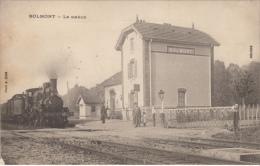 Top seltene AK,Bolmont,La station,Eisenbahn,Bahnhof ,Feldpost,Stempel,Frankre ich,1.WK