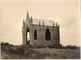 GRANDE  PHOTO   VERITABLE -  Chapelle Du Mont Des Alouettes  (85)  D.F  Chantelou -  Le Mans 1934 - Lieux