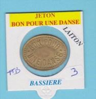 """Jeton : """" Bon Pour Une Danse """" 2 - Bassière Villeneuve Le Roi > TB - Professionali / Di Società"""