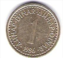 Jugoslawien 1 Dinar N-Me 1986 Schön Nr.83 / KM 86 - Jugoslawien