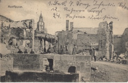 Top seltene AK,Montfaucon,Kirche,Zers t�rungen Feldpost,Stempel,Frankrei ch,1.WK,1915