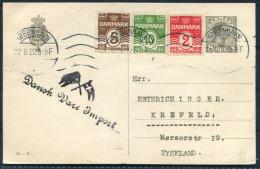 1922 Denmark Dansk-Vare-Import Postcard - Krefeld Germany - Covers & Documents