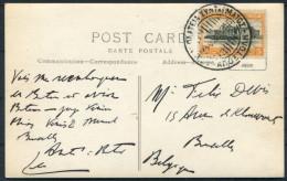 1935 Greece Athenes Stade Olympic Stadium Postcard - Belgium - Covers & Documents
