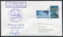 A.A.T. Antarctic M.S. Thala Dan Lauritzen Lines Ship Cover SIGNED - Australian Antarctic Territory (AAT)