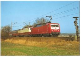 TRAIN Allemagne - EISENBAHN Deutschland - GROßGRÜNDLACH NÜRNBERG - Elektro Schnellzuglokomotive 120 130-0 Grossgründlach - Trains