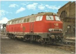TRAIN Allemagne - EISENBAHN Deutschland - GELSENKIRCHEN - Diesel-Streckenlokomotive 216 001-8 - Trains