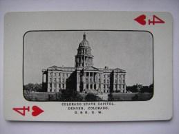 Antiek  Souvenir Kaartspel. USA. Denver  En Rio Grande.  Playing Cards. Spielkarten. Jeu De Cartes. - Cartes à Jouer Classiques