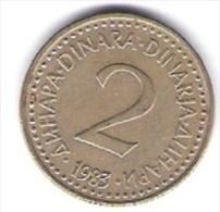 Jugoslawien 2 Dinara N-Me 1983 Schön Nr.84 / KM 87 - Jugoslawien