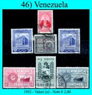 Venezuela-0046 - 1952 - Valori (o) - - Venezuela
