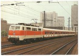 TRAIN Allemagne - EISENBAHN Deutschland - ESSEN - Elektro Schnellzuglokomotive DB 111 156-6 - Trains